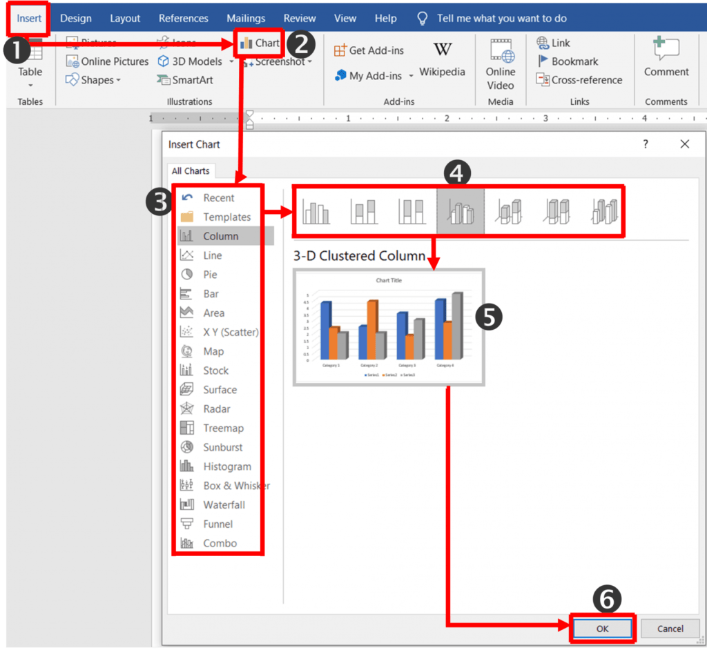 Chart tools format tab in ms word