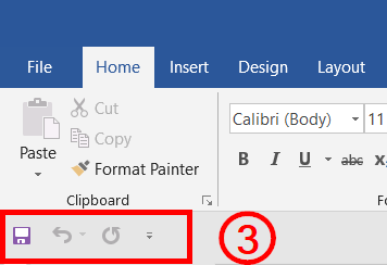 Customize Quick access toolbar Showing below the ribbon