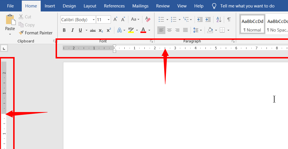 Introduction and user interface to ms word | Page info | Horizontal and Vertical Rulers in MS Word