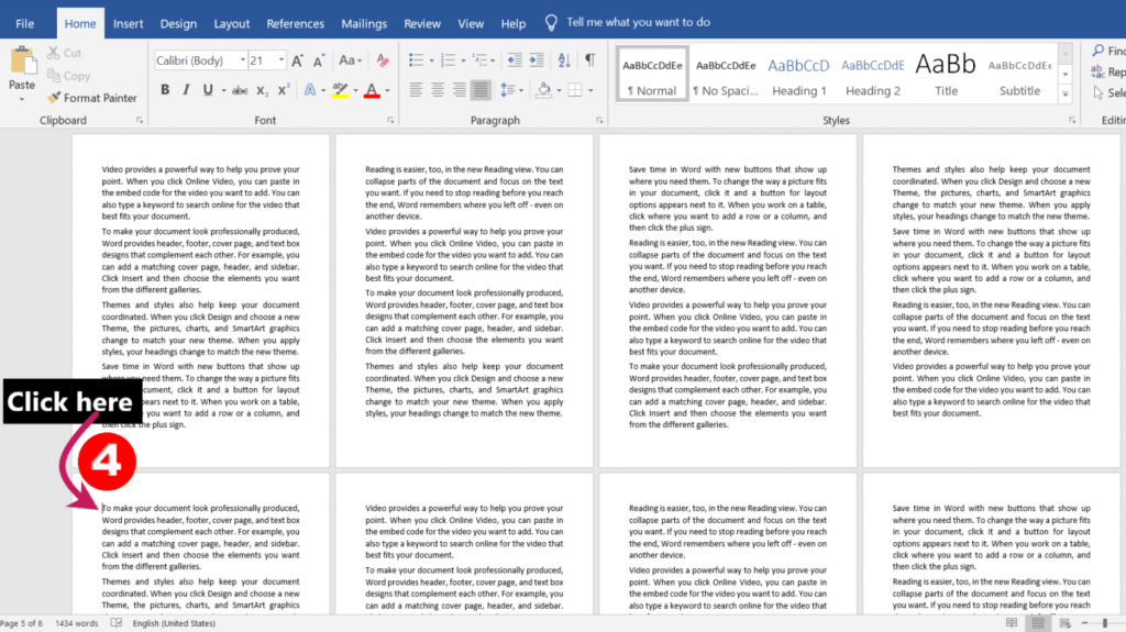 Clicking for page break | Different Headers and Footers for Different Pages in MS-Word