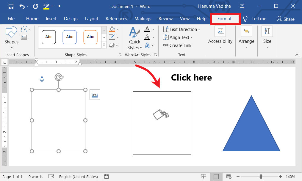 Creating a link between the text boxes or shapes in ms word