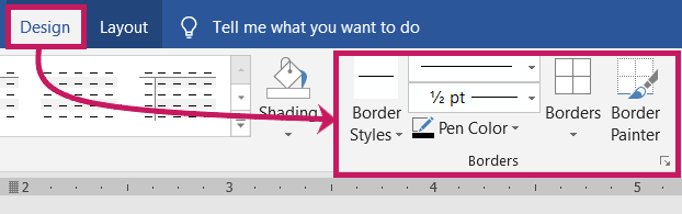 Table Border Styles and Painter MS-Word