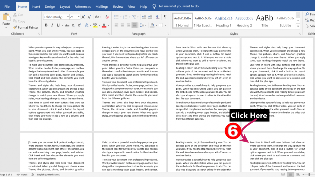 clicking the 3rd section break for break | Different Headers and Footers for Different Pages in MS-Word