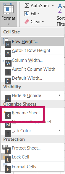 4 ways to rename a worksheet in excel
