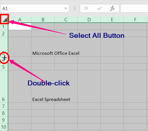 Changing the Row Height and Column Width​ in excel