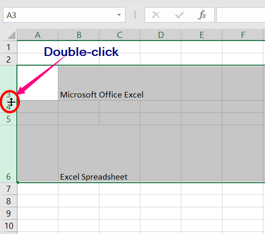 Changing the Row Height and Column Width​