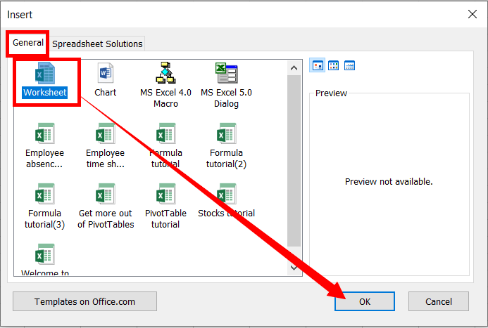 Insert New Worksheet In MS-Excel by right click