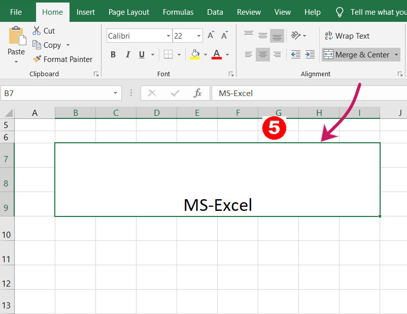 Merge and Center-in excel