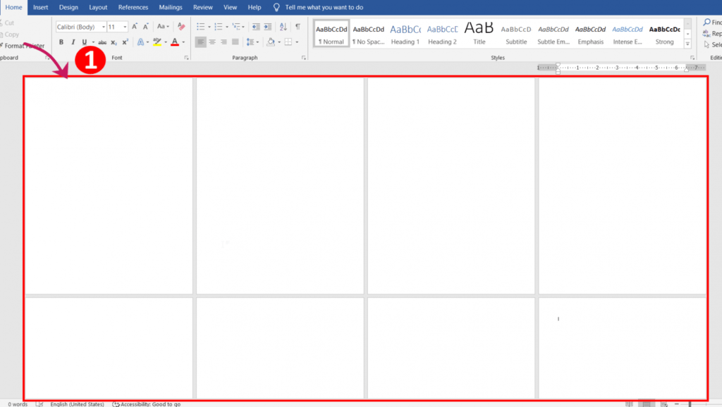 Add or Insert 8 or more page or setting portrait and landscape pages in word