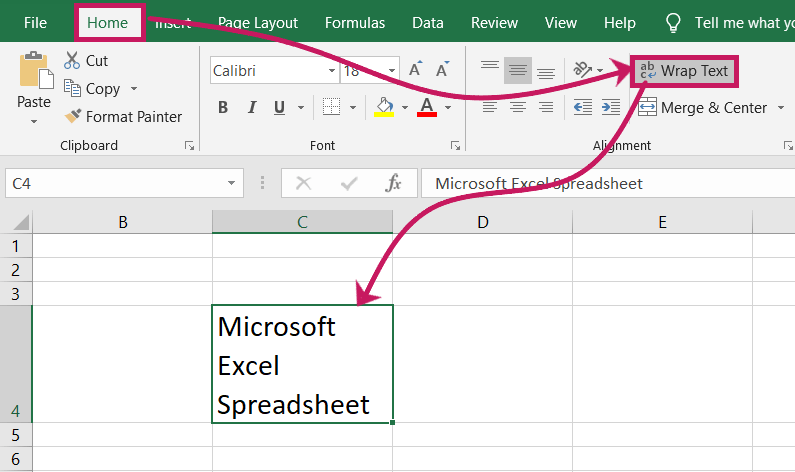 How to wrap text in excel spreadsheet