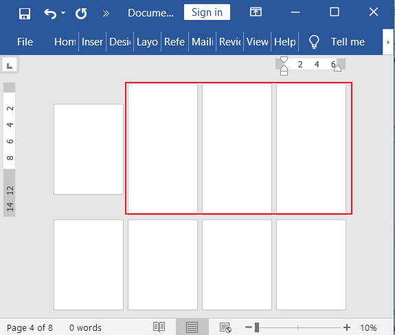Set multiple page sizes in word document