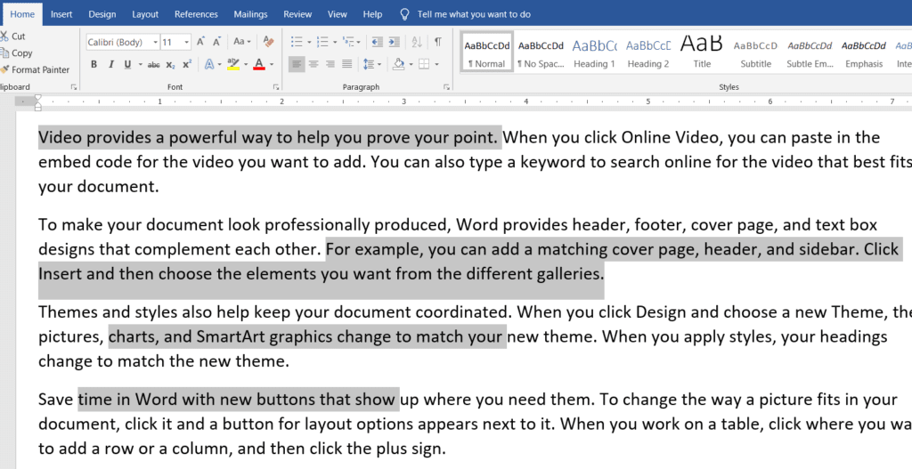 Select All Text With Similar Formatting in MS-Word