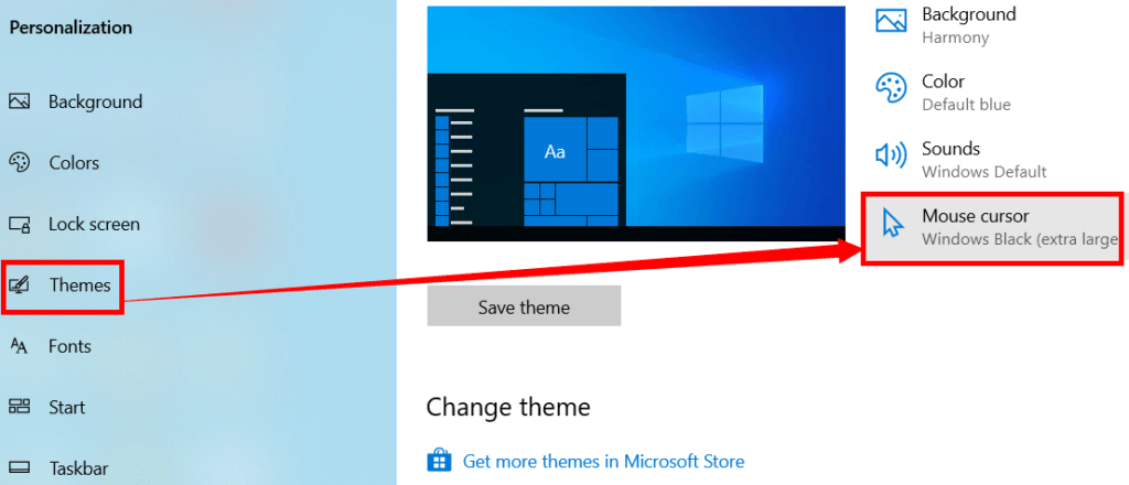 Change the Mouse Pointer/Cursor on Windows OS
