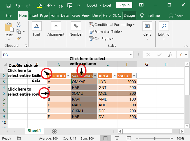 30 Ways to Select Text in MS-Word & Excel 5