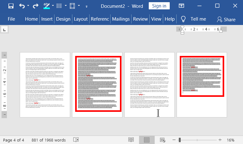 Remove any page that contain contents