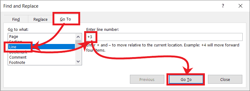 How to Use Go To in Microsoft Word with Step-By-Step - 2021's Miracle 1