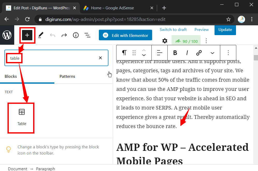 How to Add Table in Your WordPress Post