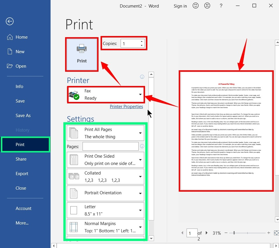 How to Print a Word Document and Ppt Slides - 2021's Master 13
